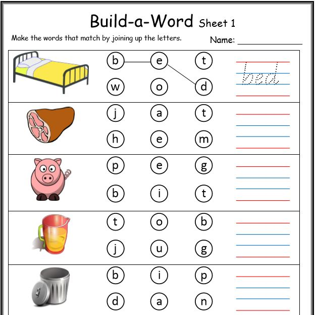 Printables Kindergarten Cvc Worksheets cvc worksheets printable work sheets keepkidsreading build a word buildaword