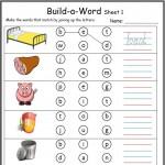 CVC build a word worksheet