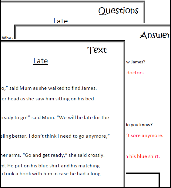 Comprehension Worksheets Texts Questions Answers