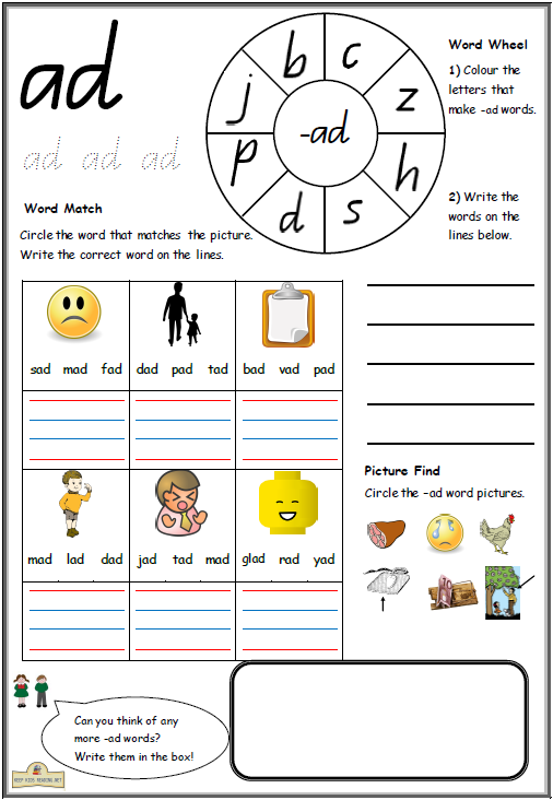 CVC Worksheets Printable Work Sheets KeepKidsReading – Kindergarten Cvc Worksheets