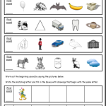phonics worksheets Initial Sound Sheet