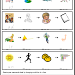 phonics worksheets Word Chains