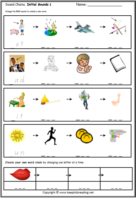 CVC Words Cut and Paste Worksheet / Activity Sheets e - CVC