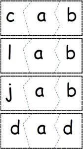 cvc Letter cards