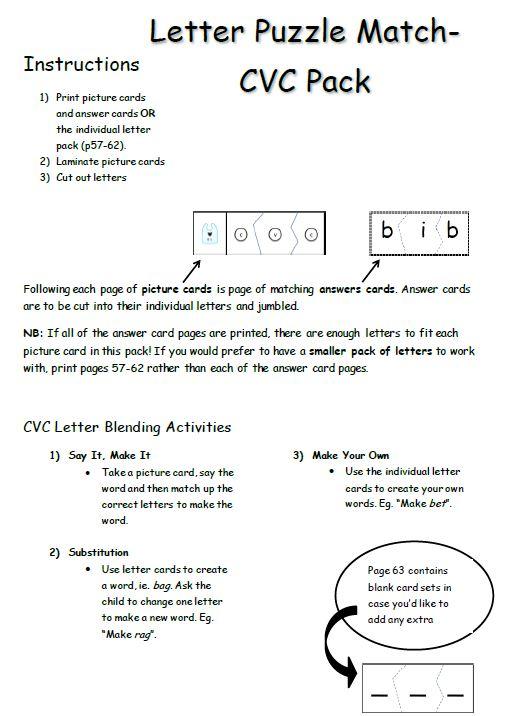Cvc Games Cvc Letter Match Up Keep Kids Reading