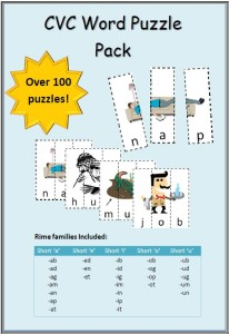 CVC word puzzle Cover