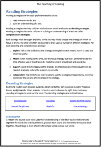 Reading Strategies teaching reading