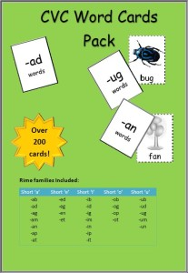 CVC word cards Cover