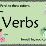 verbs poster print