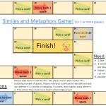 similes metaphors writing games