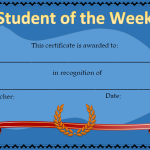 student of the week award certificates and awards