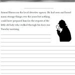 story starter detective writing stimulus