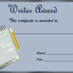 writing certificates and awards