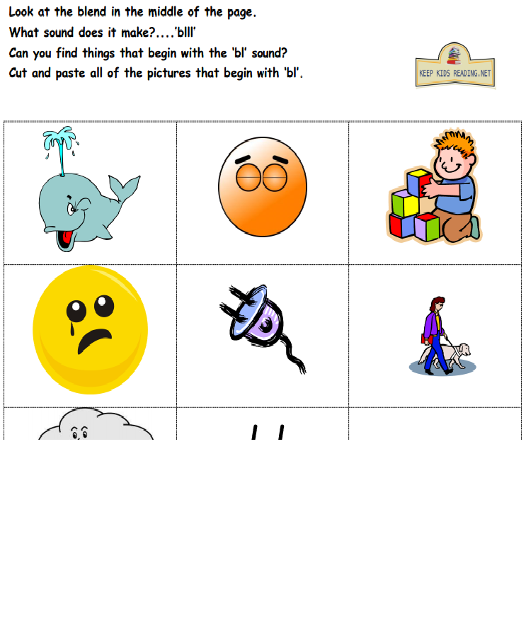 Blends and Digraphs- Activities, Worksheets- KeepKidsReading