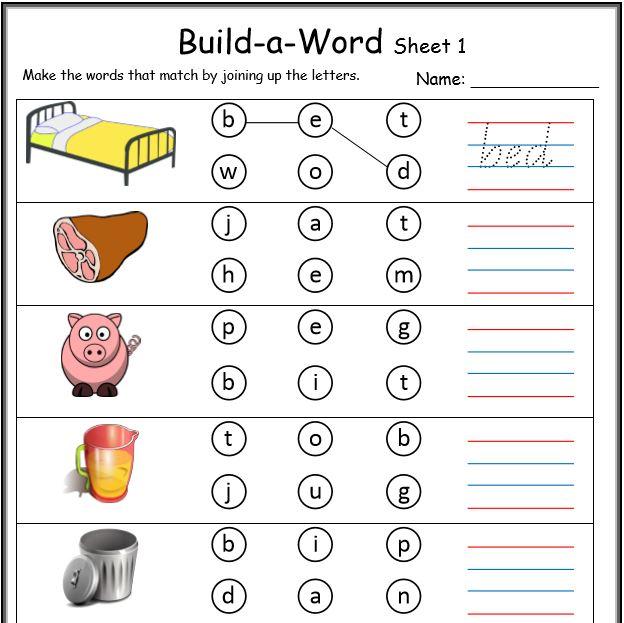 Number Names Worksheets kindergarten spelling worksheets free printables : CVC Worksheets Printable Work Sheets • KeepKidsReading