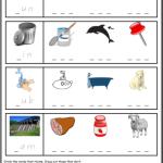 phonics worksheets Rhyme Sheet