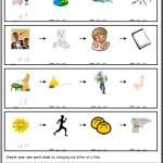 phonics worksheets Word Chains
